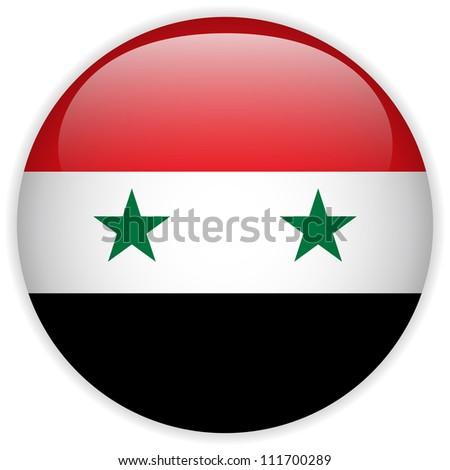 vector   syria flag glossy