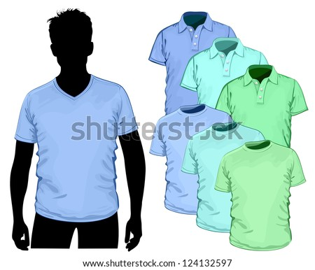 Vector t-shirt and polo-shirt design template (no mesh)