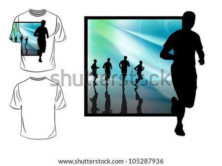 Vector. T-shirt design of sports