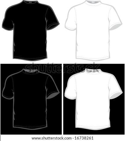 vector T-shirt in black and white color