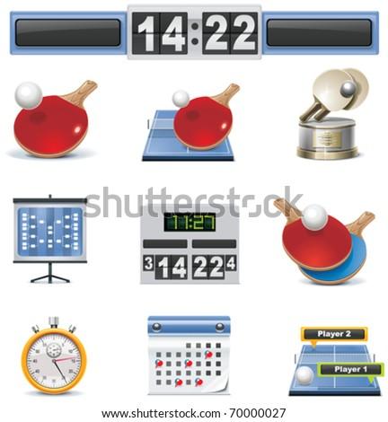 Vector table tennis icon set