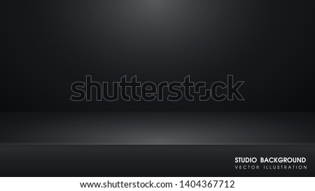 Vector table with Black carpet in the studio For making advertising media for selling products on the website.