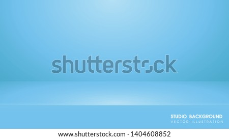 Vector table with Blue carpet in the studio For making advertising media for selling products on the website.