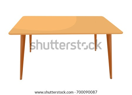 Vector table with four legs light brown