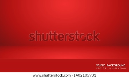 Vector table with red carpet in the studio For making advertising media for selling products on the website.