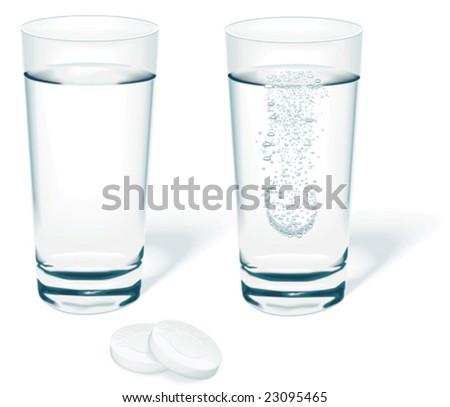 Vector tablet in water