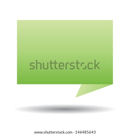 Vector Talk tag on white background
