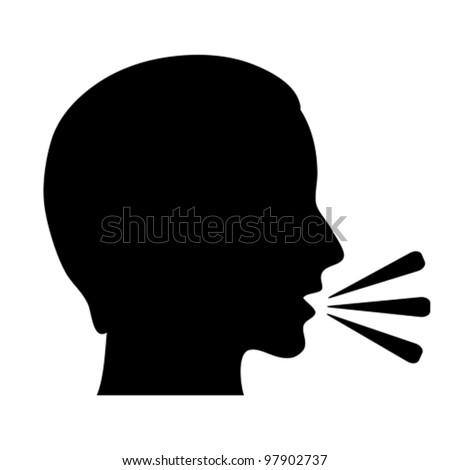 Vector talking symbol