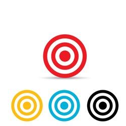 vector target icons set. logo design template