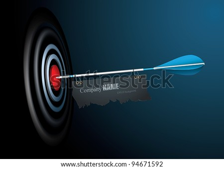 vector target with place for
