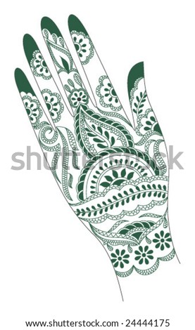 stock vector : Vector tattoo artwork of India.