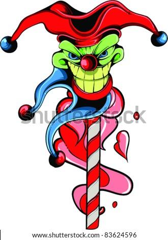 Vector Tattoo Evil Joker