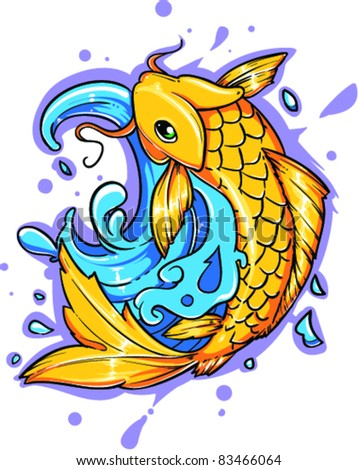 Vector Tattoo Fish