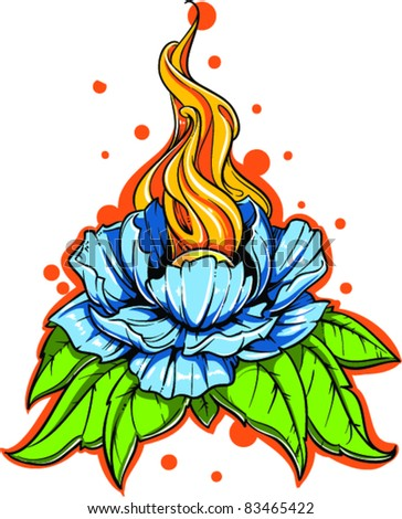 Vector Tattoo Flower