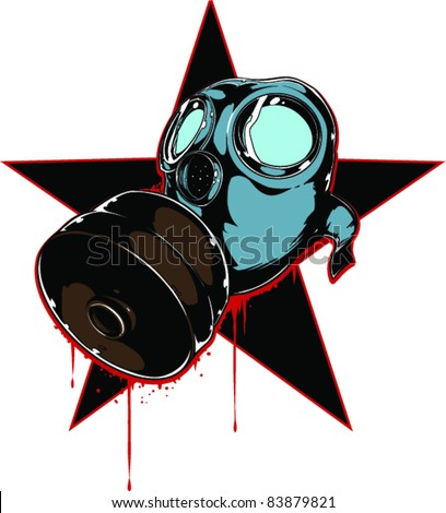 Stock Photo Vector Tattoo Gas Mask