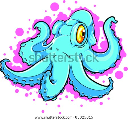 Vector Tattoo Octopus