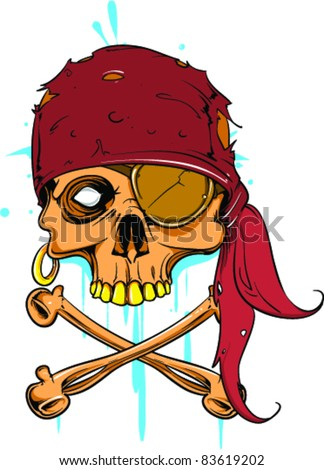 Vector Tattoo Pirate Skull