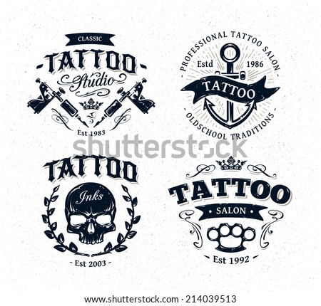 vector tattoo studio logo