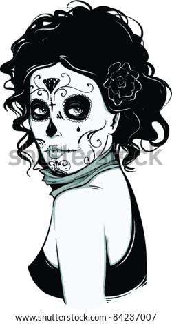 Vector Tattoo Zombie Girl Ez Canvas