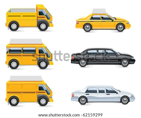 Vector taxi and transportation service icon set. part 3