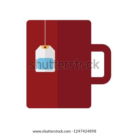 vector tea or coffee cup illustration. hot drink symbol. mug icon