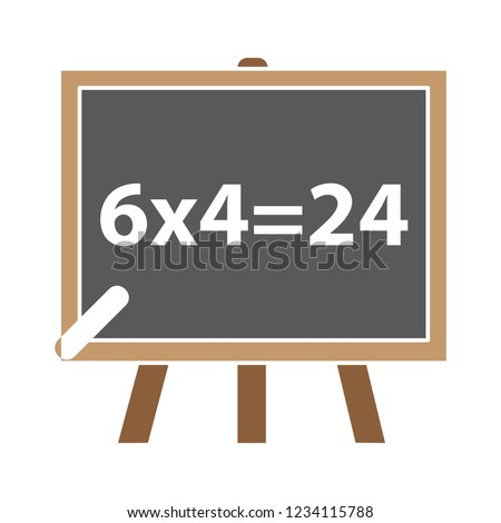 vector teaching board illustration - classroom learning equipment symbol sign.  learning board sign symbol