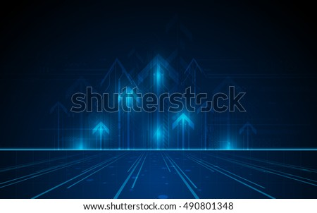 vector tech networking innovation concept traffic design background