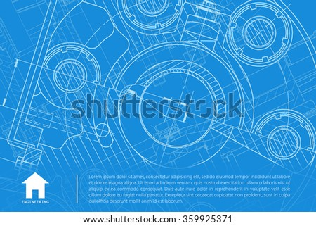 vector technical blueprint of