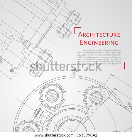 vector technical blueprint of
