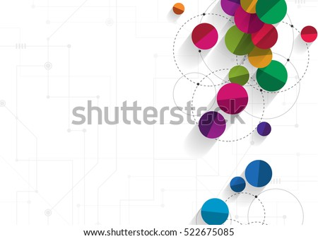 Vector technology concept. Connected Lines and dots. Network sign