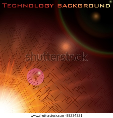 Vector technology electronic schematic diagram background. eps10
