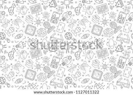 Vector Technology of future pattern. Technology of future seamless background
