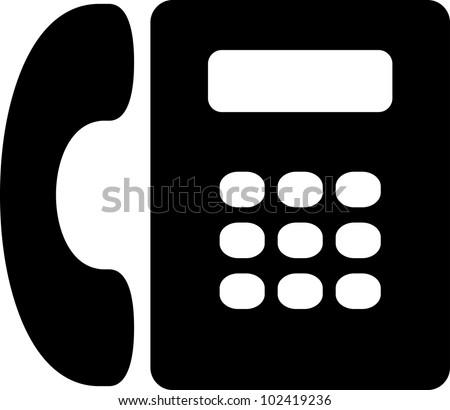 Vector telephone icon isolated