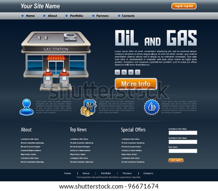 Vector temlate site about oil and gas
