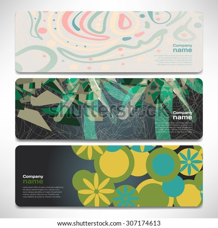 Vector template banners with digital technology and internet abstract background