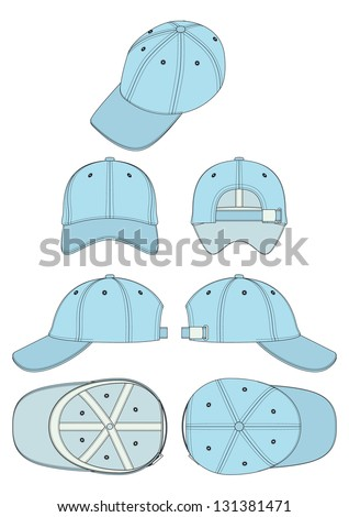 vector template baseball corporate cap