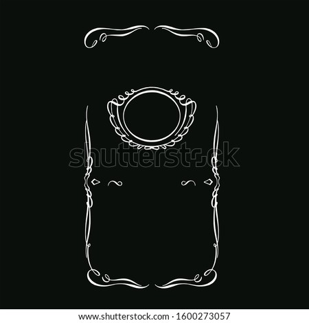vector template black