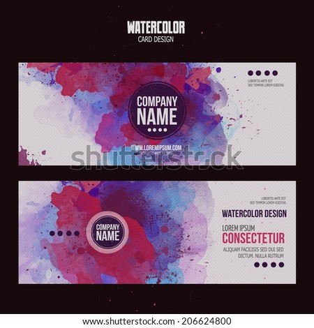 vector template cards with