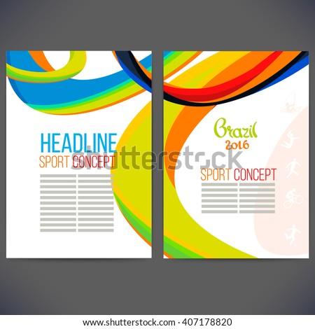 vector template design brochure