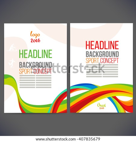 vector template design brochure
