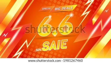 vector template 6.6 flash sale shopping Сток-фото ©