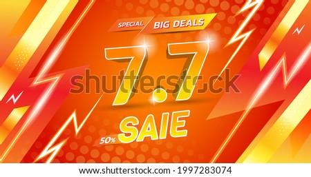 vector template 7.7 flash sale shopping ストックフォト ©