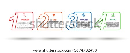 Vector template for business or Finance infographics. Development plan or strategy. Simple stock linear design.