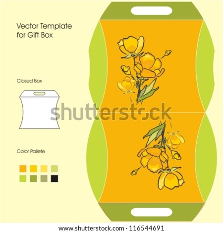 Vector Template for Gift Box