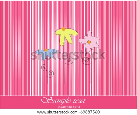 vector template for greeting abstract card