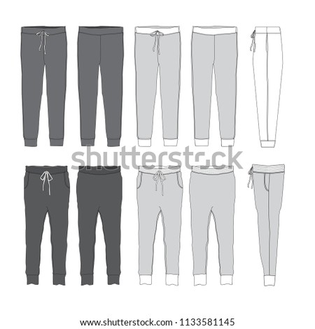 Vector template for Jogger Pants