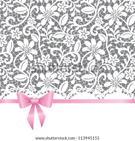 Vector template for wedding, invitation or greeting card with lace ...