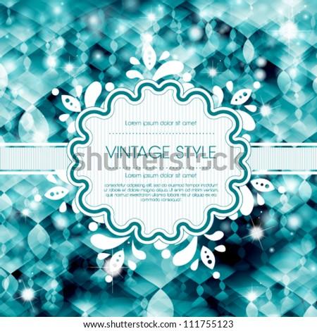 Vector template frame design for christmas invitation card stock