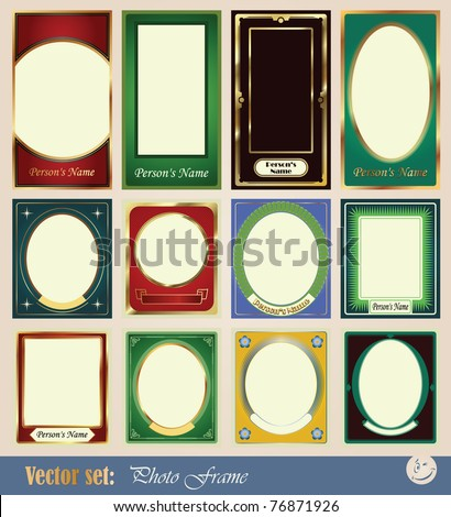 vector template frame pictures for decoration and design of wedding