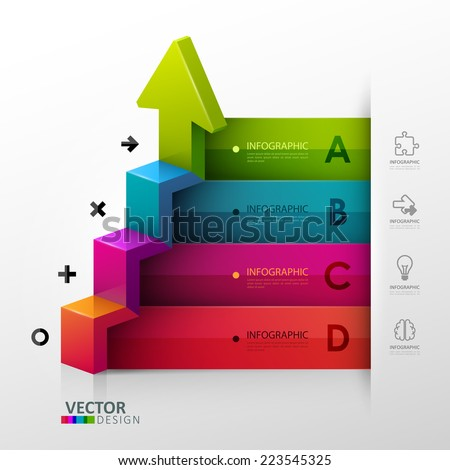 Vector template in modern style For infographic and presentation